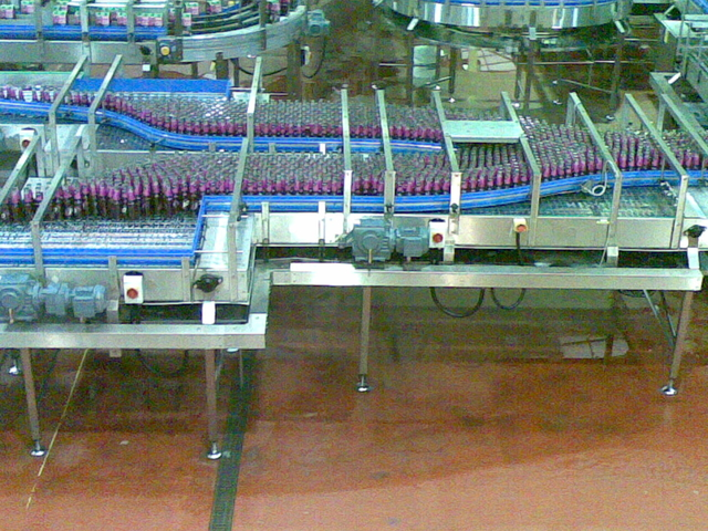 Conveyor mass flow bottle 1